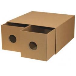 caja cartón natural