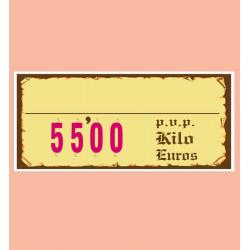 Cartel portaprecios