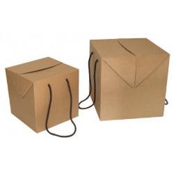 caja cartón con asa de cordón