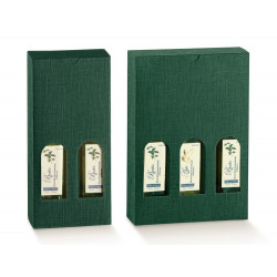 ESTUCHE BOTELLAS ACEITE COLOR VERDE H240MM