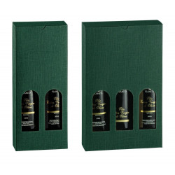 ESTUCHE BOTELLAS ACEITE COLOR VERDE H320MM