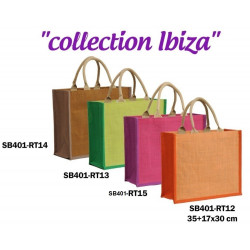 BOLSA YUTE SHOPPING DECORADAS 35+17X30CM