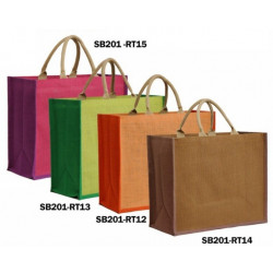 BOLSA YUTE SHOPPING DECORADAS 42+17X35CM