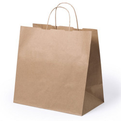 BOLSA KRAFT ASA RIZADA 30X18X29CM TAKE AWAY