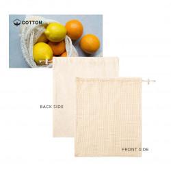 bolsa malla algodón