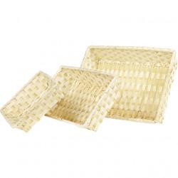 Bandeja natural de bambú....