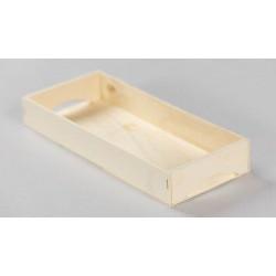 bandeja madera con asa