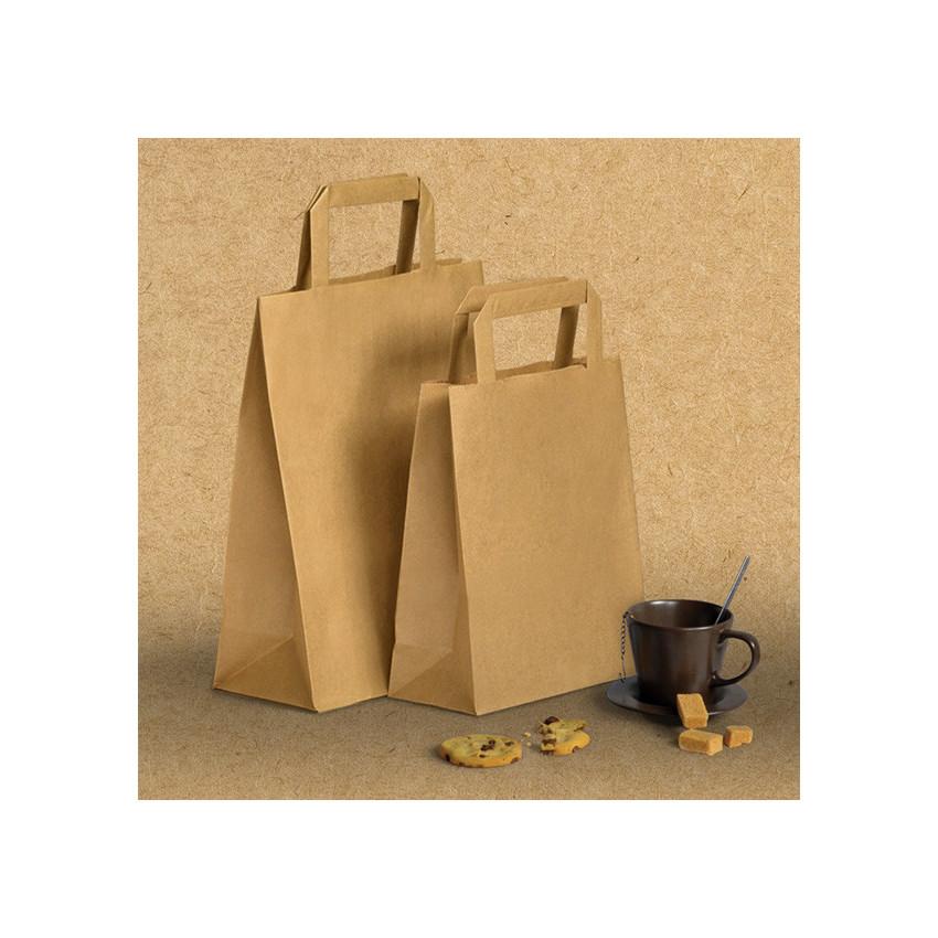 Bolsas papel asa plana