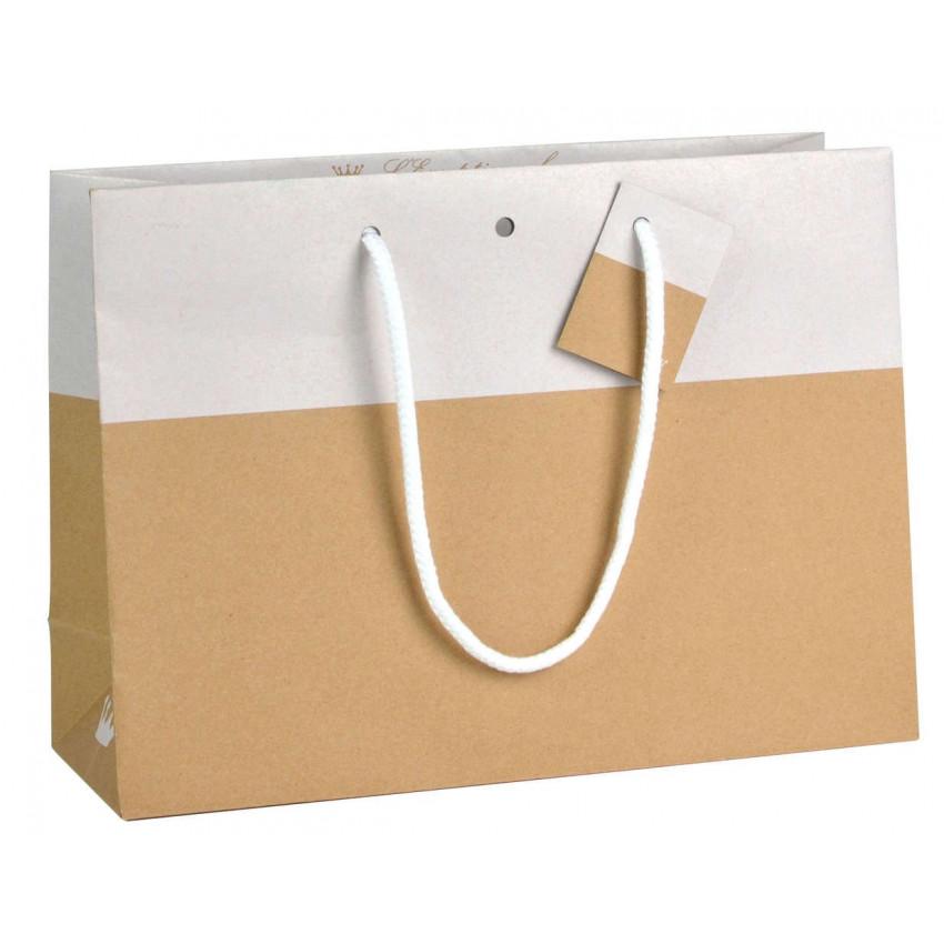 Bolsa papel asa cordón