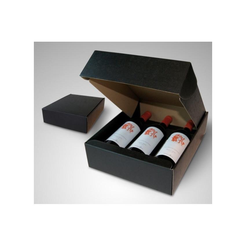 Estuches de cartón para botellas de vino y cava
