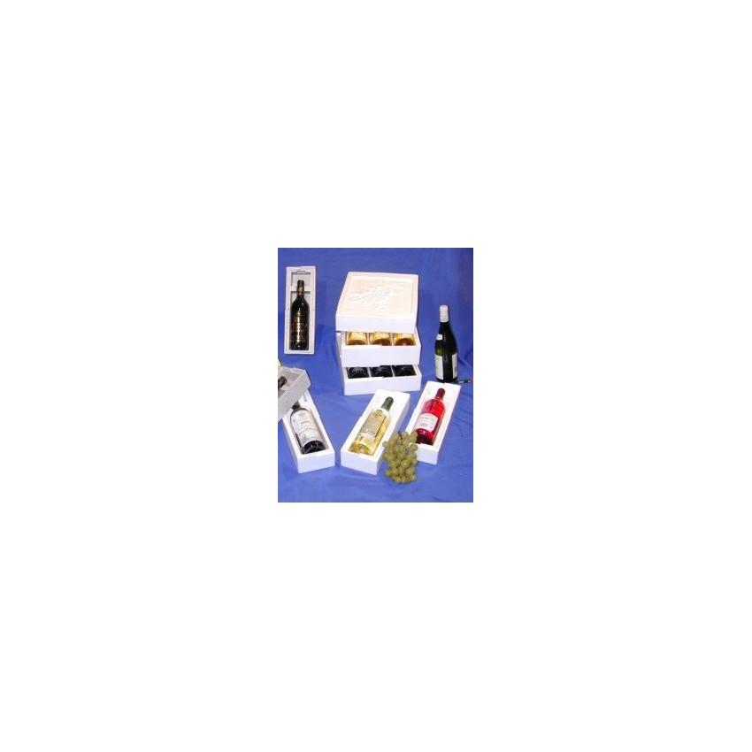 Cajas de porexpan y bolsas isotérmicas para botellas
