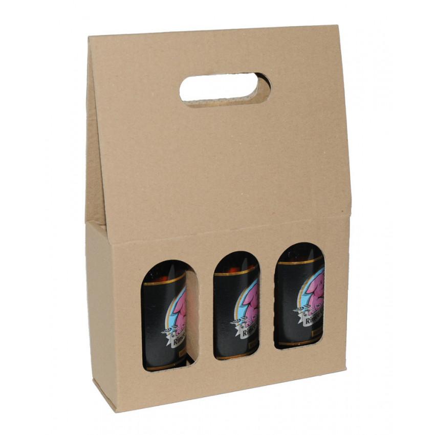 Embalaje Cartón con asa para botellines de cerveza