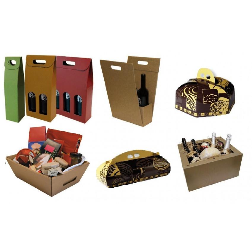 Estuches,cajas de cartón para botellas,gourmet y pastelería